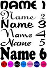 IRON ON TRANSFER 1 PERSONALISED NAME FONT COLOUR LABEL