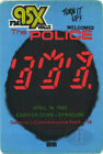 POLICE 1982 GHOST TOUR RADIO PROMOTIONAL BACKSTAGE PASS Carrier Dome