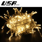 10M 100 LED Indoor Outdoor Christmas Party Garden String Fairy Light Warm White