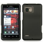 Rubberized Black Hard Case Phone Protector Cover for Motorola Droid Bionic