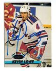 1992-93 #165 TOPPS STADIUM #165 KEVIN LOWE RANGERS  AUTO SIGNED CARD JSA FB15
