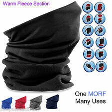 MORF Fleece Section - Multi Use Neck Warmer Snood Head Over Skiing Cycling Sport