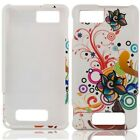 White Autumn Flower HARD Protector Case Snap on Phone Cover Motorola Droid X X2