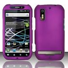 Rubberized Dark Purple HARD Protector Case Phone Cover for Motorola Electrify