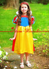 XMAS Christmas Gift Snow White Noble Princess Girl Party Kids Costume Dress 2-7Y