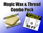 New Magic Invisible Thread 50 Feet with Magic Wax Block