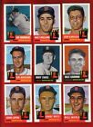 1953 TOPPS Archives 14 Reprint Cards Boston RED SOX