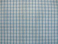 "PALE LIGHT BLUE WHITE 1/8"" SMALL GINGHAM CHECK DRESS POLYCOTTON FABRIC ES002PCBL"