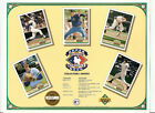 1992 UPPER DECK HEROES of BASEBALL SHEET - LIST of COLLECTORS SHOWS -