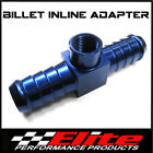 5/16 TH BILLET ALLOY INLINE FUEL PRESSURE GAUGE ADAPTOR FITTING