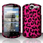 Hot Pink Leopard HARD Protector Case Snap On Phone Cover Huawei AT&T Impulse 4G