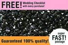 5000 Black Crystal Diamond Confetti Table Scatters Party Decoration Wedding