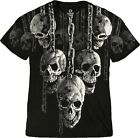 NEW Fantasy Skull Hanging Out Biker Gothic Skeleton Shirt M L XL 2X 3X 4X 5X 6X
