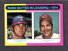 1975 TOPPS MINI #308 RBI LEADERS  Burroughs / Johnny Bench REDS  EX-MINT + HOF