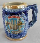 Vintage Souvenir NEW YORK CITY *Twin Towers! Mug Tankard Stein LUSTRE WARE Japan