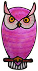 owl bird decal stained glass style suncatcher window sticker leadlight