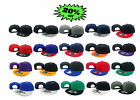 NEW VINTAGE FLAT BILL SNAP BACK BASEBALL CAP 19 COLORS AVAILABLE
