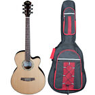 "Kalos 41"" Solid Top Concert Electric Acoustic Guitar"