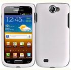 For Samsung Exhibit 2 II 4G Rubberized HARD Case Snap on Phone Cover White