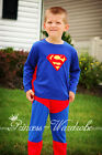 Superman Hero Outfit Boys Kids Child Party Costume Present Gift 2-7Year