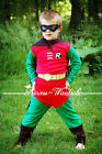 Robin Hero Outfit Boys Kids Child Party Costume Present Gift 2-7Year