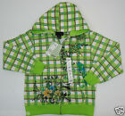 Ferrat Boy's Youth Urban Zip front Hoodie Plaid embroidery embellish MSRP$88.00