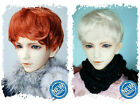 2 wig set 8-9 inch Carrot&Blonde Synthetic Mohair 1/3 BJD Doll SD Short Wig