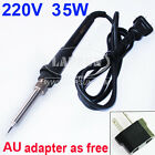 220V 35W Electric Welding Soldering Gun Iron Tool 907 AU Adapter Work 900M Tips