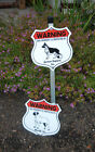 7 x 8 Inch Security Aluminum Dog Signs - Lowchen to Pekingese Breeds