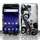 For Samsung Skyrocket Galaxy S II 2 Rubberized HARD Case Phone Cover Black Vines