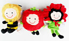 """Set of 3 Kidoodles 6"""" plush, New with Tags, by Russ Berrie"""