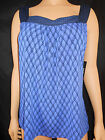 NWT Womens Black &Blue Pull Over Top Sz 8/10 By Geoge W/Square Neck -Versatile