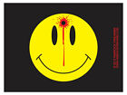 Smiley Face with bullet hole (Bumper Sticker)