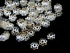 300 x Silver Plated 8mm Bead Caps Jewellery Craft Beading Findings E116