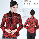 chinese jacketing jacket blouse clothing top tang suit 120702 red size 30-40