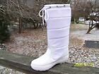 New Authentic Display Guess Boots By Marciano Forte White Nylon Embroid Fabric 6