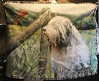 Bearded collie woven throw design #5 - amazing!