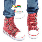 Buckles Ankle Leather Sneakers Boots Shoes Metallic Red SD13 Boy Dollfie dolls