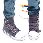 Buckles Ankle Leather Sneakers Boots Shoes Purple SD13 Boy Dollfie dolls