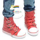 Buckles Ankle Leather Sneakers Boots Shoes Red SD13 Boy Dollfie dolls
