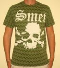 New Without Tags Smet by Christian Audigier Man Ace of Spade Green T-shirt XL