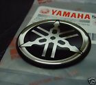 2x Yamaha Tuning Fork Stickers Decals 40mm DT MX YZ YZF Parts *GENUINE*