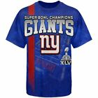 Super Bowl 46 Champs Champions New York Giants NY Tee Player T-Shirt All Sizes