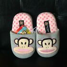 Paul Frank Julius Youth Girls Kids Slippers Gray Pink SZ 11/12 NEW FREE US SHIP