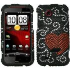 For HTC Rezound Crystal Diamond BLING Case Snap on Phone Cover Curve Heart