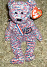 TY 2000 Beanie Baby USA the Bear Date of Birth July 4, 2000 w/hang tag attached