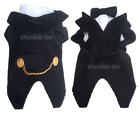Dog Clothes Pet Dress Shirt Jacket Costume LONG TAIL BLACK TUXEDO WEDDIING 00-3