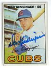 1967 TOPPS #419 DON KESSINGER CUBS ROOKIE SIGNED CARD AUTO K