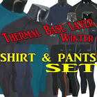 Mens compression skin tights thermal shirts pants set under base layer S~XXL