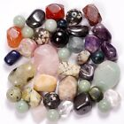 1/2 LB Assorted Drilled GEMSTONE BEADS Mixed Colors, Shapes, Sizes, Gems 227g